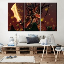 Canvas Print Game Poster 3 Piece Dota 2 Tauren Hero Doom Modular Picture Modern Home Decor Bedroom Or Office Wall Art Painting