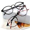 Vidrios ópticos marco de anteojos con cristal claro miopía marcos mujeres claro vidrios transparentes mujeres de hombres de la flor marcos
