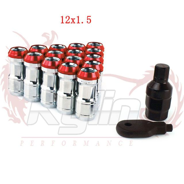 KYLIN STORE -  Racing Formula Steel Wheel 44mm Lock Lug Nuts  12X1.5  black gold red blue with logo