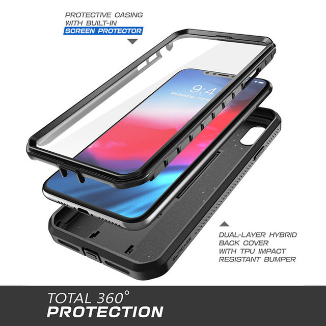SUPCASE For iPhone XR Case 6.1 inch UB Pro Full-Body Rugged Holster Phone Case Cover with Built-in Screen Protector & Kickstand 2