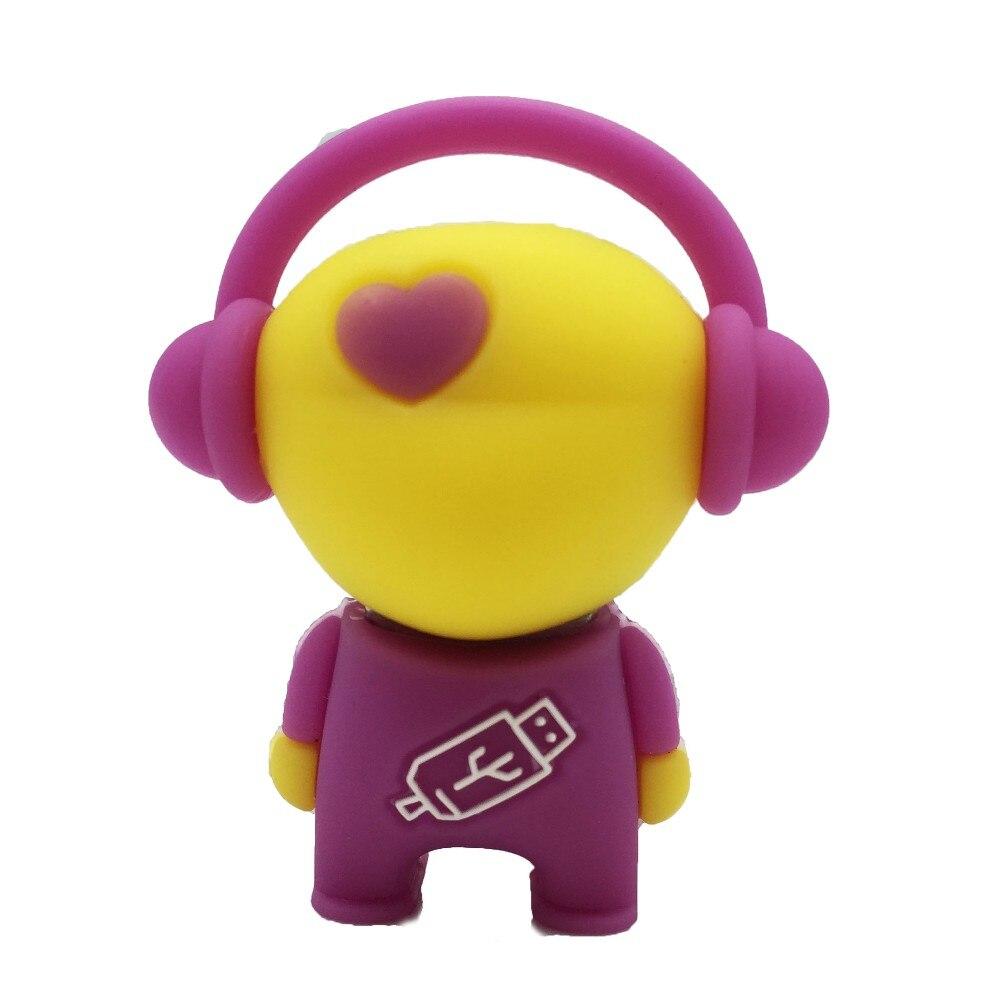 Cartoon Music Man Flash Disk Memory USB for Gift Pendrive USB Flash Drive 128GB 64GB 32GB 16GB 8GB 4GB Love Man USB Pens Stick