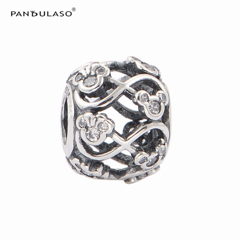 Pandulaso Cartoon Silver 925 Jewelry Making For Women Miki Mouse Infinity Crystal Beads Fit Diy Charms Bracelets Fashion Jewelry Making Things Convenient For Customers Beads