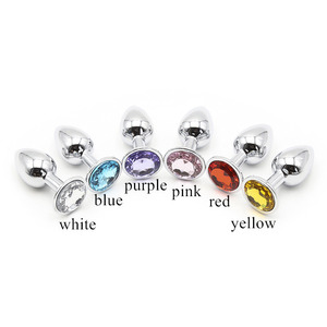 Image 2 - Small Size Metal Anal Plug With Diamonds Stainless Steel Booty Beads Crystal Anal Butt Plug Sex Toys For Women Men Gay