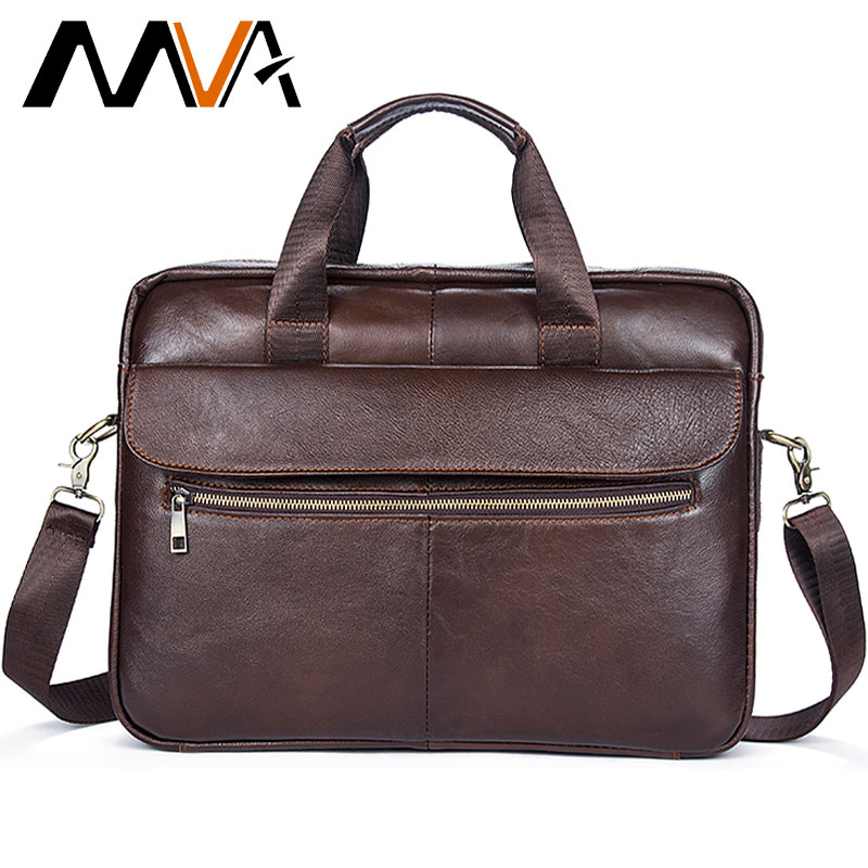 MVA Briefcase Men's Genuine Leather Bag For Men Office Bag Men's Shoulder Bags Leather Mens Handbags Business Laptop Bags 1117