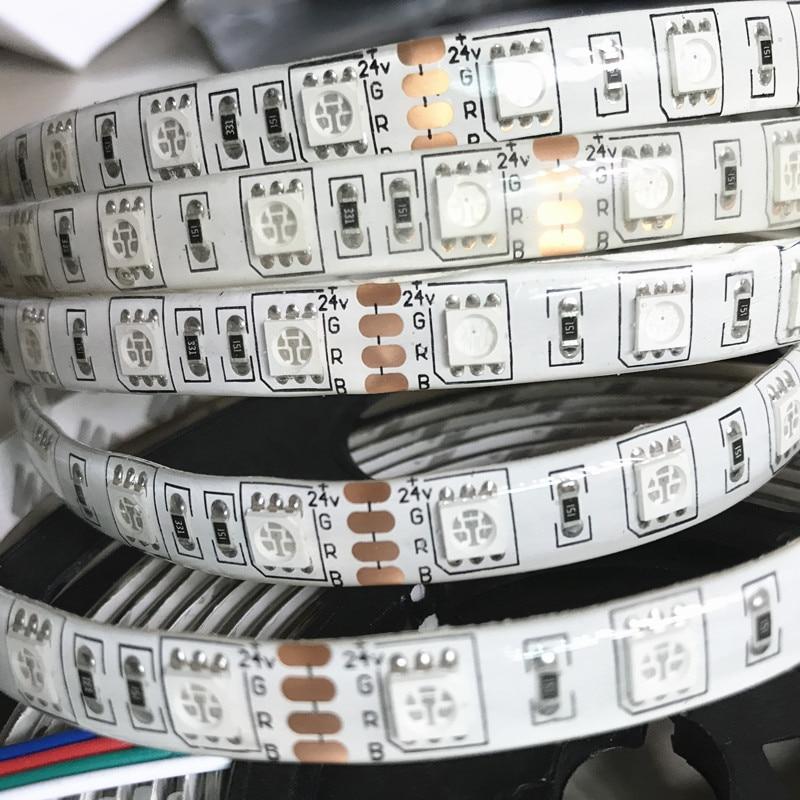 100 м Гибкие светодиодные полосы света 24 В 5050 SMD 300 холодный белый/теплый белый/синий/ красный/зеленый/RGB Водонепроницаемый IP65