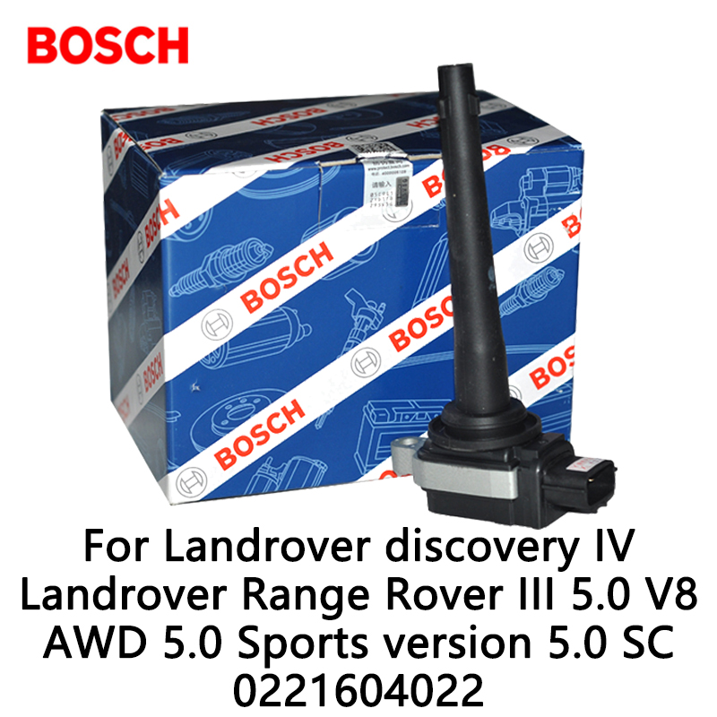 Bosch Ignition Coil For Landrover discovery IV Landrover Range Rover III 5.0 V8 AWD 5.0 Sports version 5.0 SC 0221604022