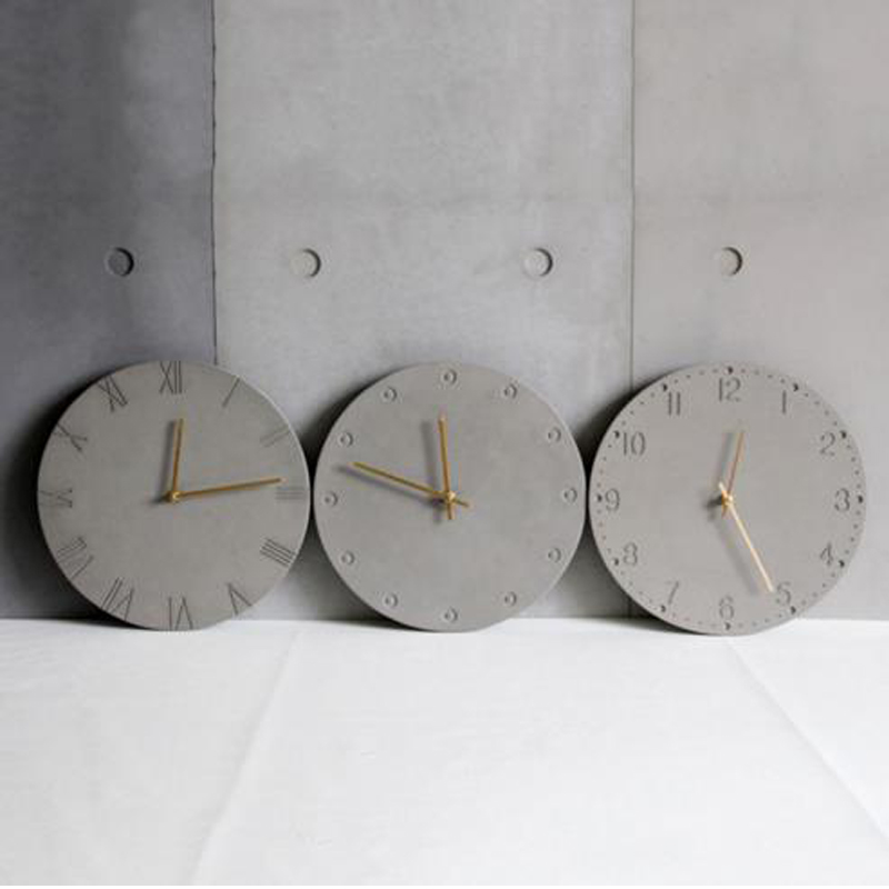 The creative personality of modern minimalist three dimensional geometric texture relief concrete clock silicone mold