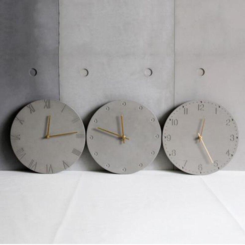 الإبداعية شخصية الحديثة الحد الأدنى ثلاثي الأبعاد هندسية الملمس الإغاثة ساعة ملموسة قالب من السيليكون-في قوالب الكعك من المنزل والحديقة على  مجموعة 1