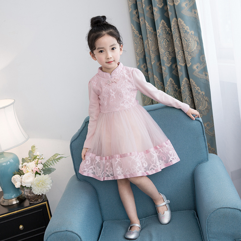 4-13Y Princess Baby Girls Dresses Spring 2018 New O-neck Kids Wedding Dress for Girls Cotton Sweet Lace Children Clothing 3ds250 summer 2017 new girl dress baby princess dresses flower girls dresses for party and wedding kids children clothing 4 6 8 10 year