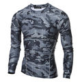 2016 Hombres Del Verano de Camuflaje Camisa de Secado rápido Respirable Medias Ejército Táctico Camiseta Mens Ropa Deportiva de Compresión Camiseta de Fitness