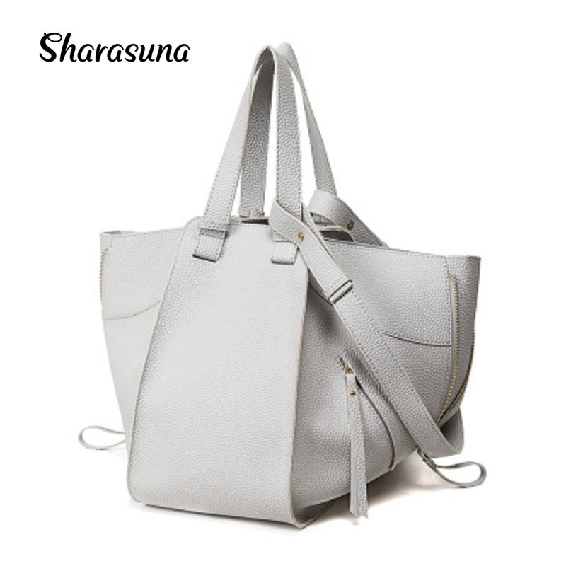 New fashion Women PU Leather Handbag Tote bag messenger bag bat wings brand designer brown Europe Big shopping BAG цена