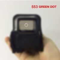 553 Quick Detachable Holographic Sight Long style Red&Green Dot Sight Rifle Hunting Scope with 20mm Rail Mounts for Airsoft