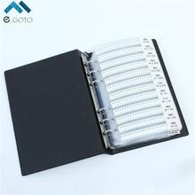 0805 SMD Резистор 221 Значений 25 шт./виды 5525 шт. 1% Точность Компонент Пакета Черный Образец Книга Ассортимент комплект