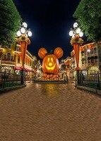 Custom vinyl cloth Halloween pumpkin lights photography backdrops for kids party photo studio portrait backgrounds props S 737