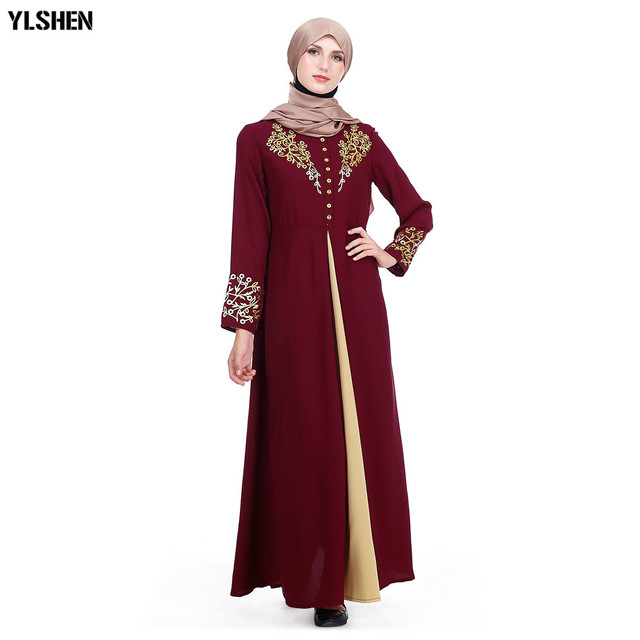 Plus Size Muslim Abaya Dubai Women Maxi Dresses Ramadan Moslim Prayer Robe Hijab Dress Kaftan Islamic Turkey Islamic Clothing 2