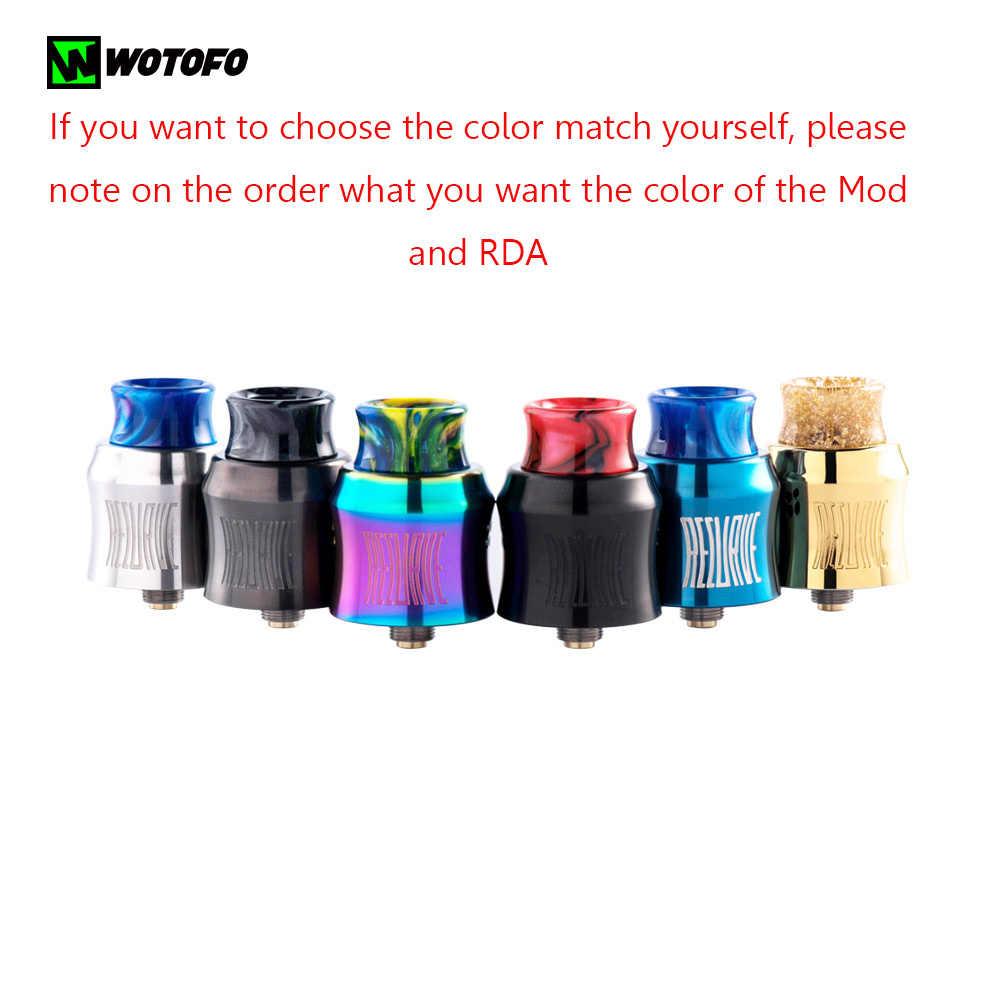 Оригинальный Wotofo изогнутый Squonk Mod Kit с Wotofo изогнутый RDA танк без 18650 20650 20700 21700 8 мл Vape электронная сигарета