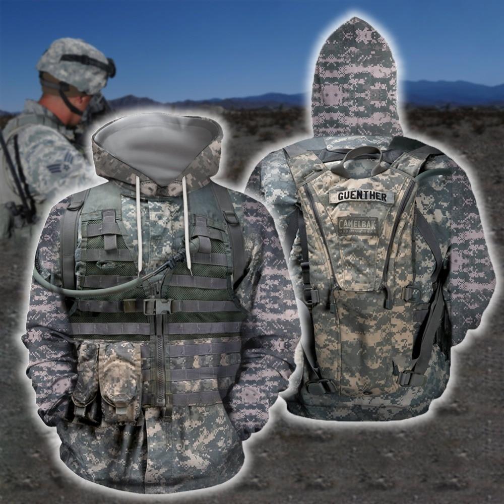 New 3D Airborne Marine Corps Suite Hoodie Sweatshirt Men Women Hoodies Casual Sweatshirt Cute Cosplay Soldier Suit Hoodies SH005