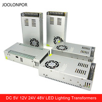 Dc 12V 24V 48V 7.5A 10A 15A 20A 30A 40A Led Driver Transformers 350W 360W 400W 480W 500W Led Lighting Transformers for Strip