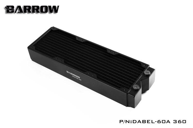 Brouette Dabel-60A 360, 60mm d'épaisseur 360mm radiateur, cuivre épais Plus Type refroidisseur d'eau, adapté pour les ventilateurs 120mm