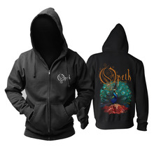Bloodhoof Opeth להקת מות מתכת mucis חדש רוכסן הסווטשרט אסיה גודל