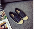 2016 Candy Color Women Flats Sweet Style Platform Splicing Breathable Canvas Face Round Toe Flat Shallow Mouth Single Work Shoes