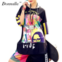 Donnalla T Shirts Fashion Women Hip Hop Clothing Style Floral Baseball Soft T Shirt Streetwear Dance