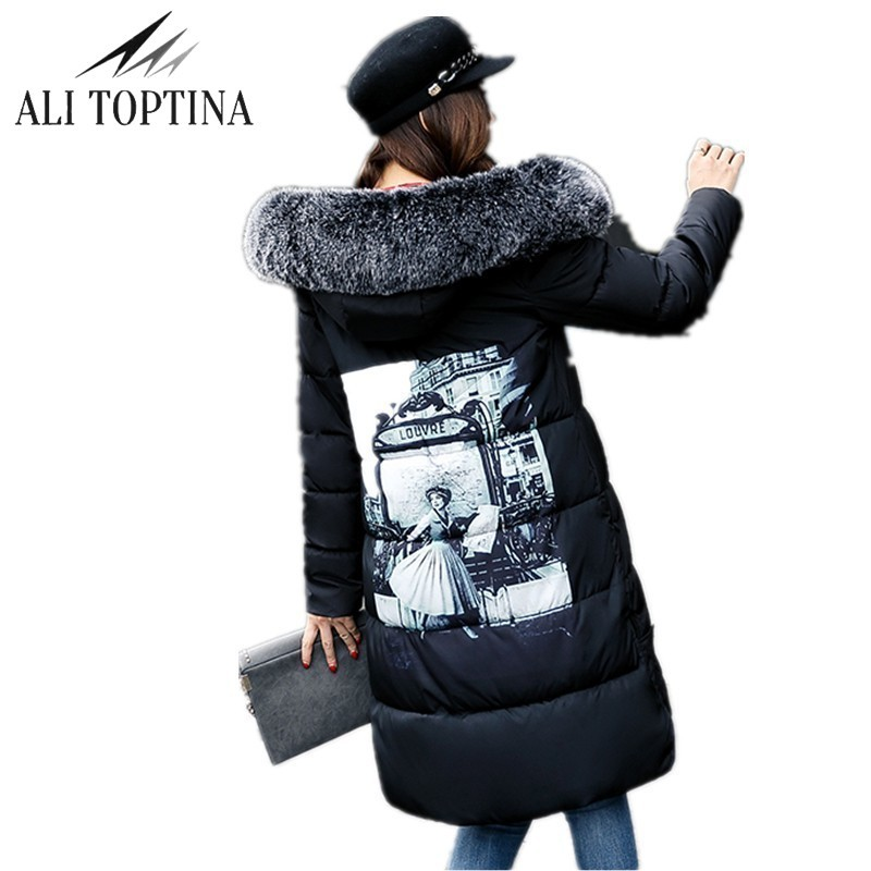 ALI TOPTINA Parkas Winter For Women Cotton-padded Female  Long Down Thin Cotton Thickening Cotton-padded Clothes Loose Coat Mf12  naim fraimlite level long cherry ali