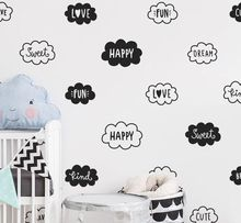 Cloud Wall Decal Cute And Words Kids Bedroom Decor Babys Room Art Mural Nursery Stickers Home Decoration AY0138