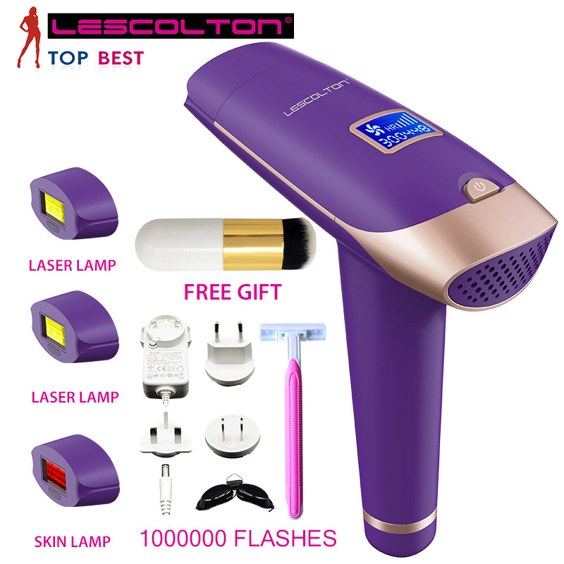 Electric Laser Hair Epilator LCD Display Depilador Permanent Hair Removal Device Laser 700,000 Light Pulses Lamp for Women