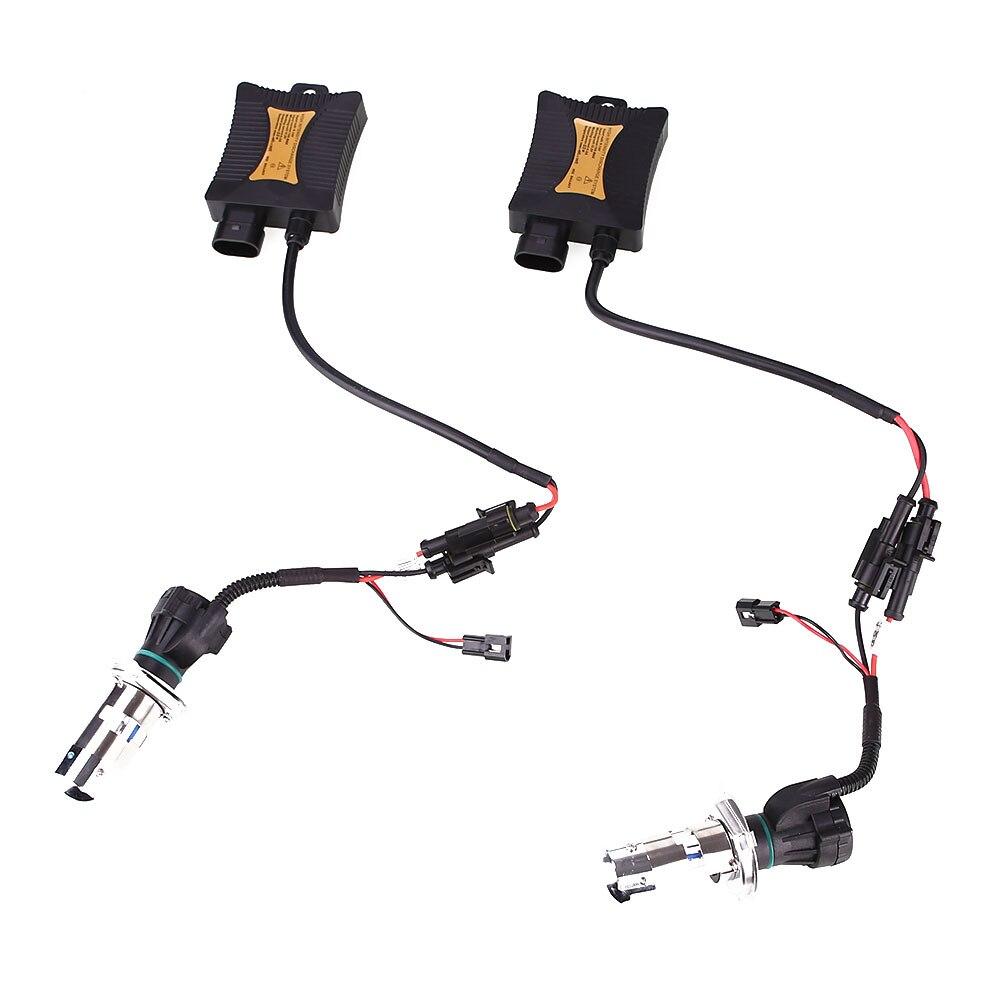 1 Set Helle H4 Hid Xenon Ballast Auto Licht Umwandlung Birne 8000 K Hohe Qualität
