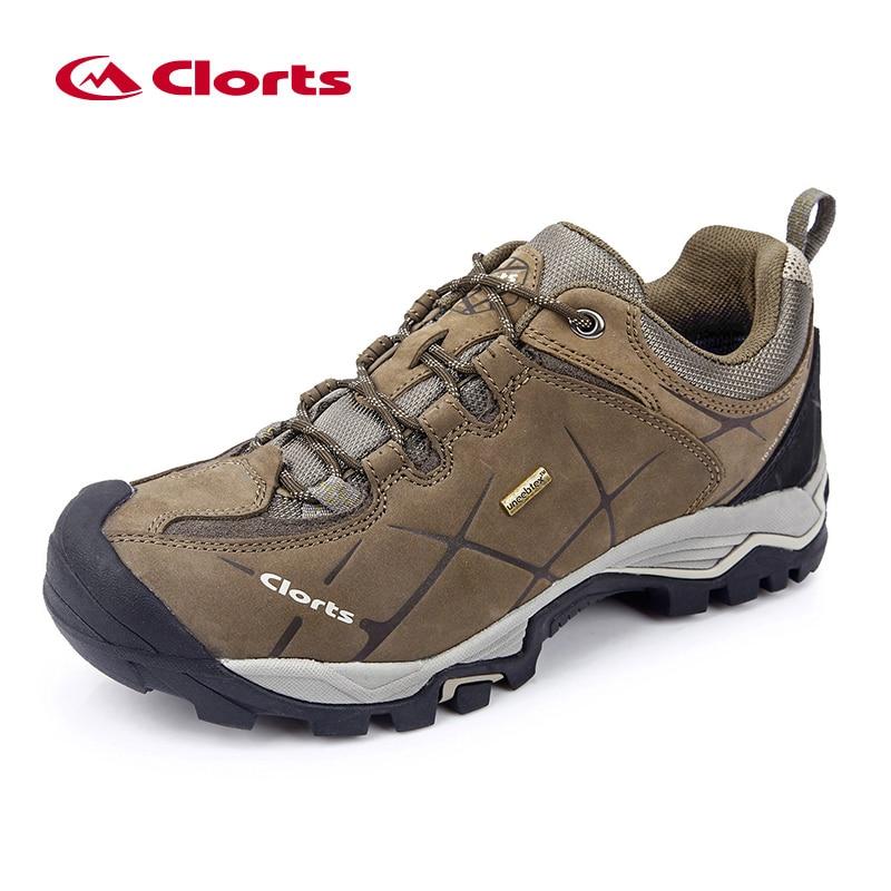 Clorts Waterproof Hiking Shoes Men Outdoor Boots Unisex Trekking Shoes Leather Mountain Climbing Walking Hiking Shoes Women цена 2017
