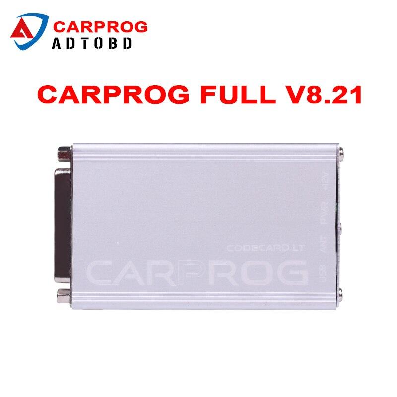 Цена за CARPROG Полный V8.21 прошивки идеальный интернет-программирования водителя тире со всеми 21 Адаптеры для сим-карт чем CARPROG V9.31 лучше