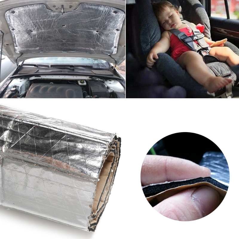 Auto Roof Heat Shield Foil Car Sound Isolation Deadener Noise For Cover (Cover) Fender Pillar Firewall
