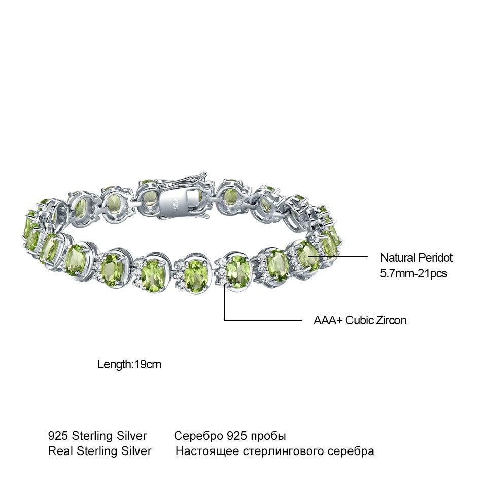 Image 5 - UMCHO Luxury 18.9ct Natural Peridot Bracelets For Women 925  Sterling Silver Chain Link bracelet Wedding Gemstone Fine  JewelryBracelets