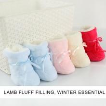 цена на Children Socks Cashmere +Coral fleece Newborn Shoes Soft Indoor Floor Socks Winter Baby Foot Cover Keep warm Footwear 0-3 Months