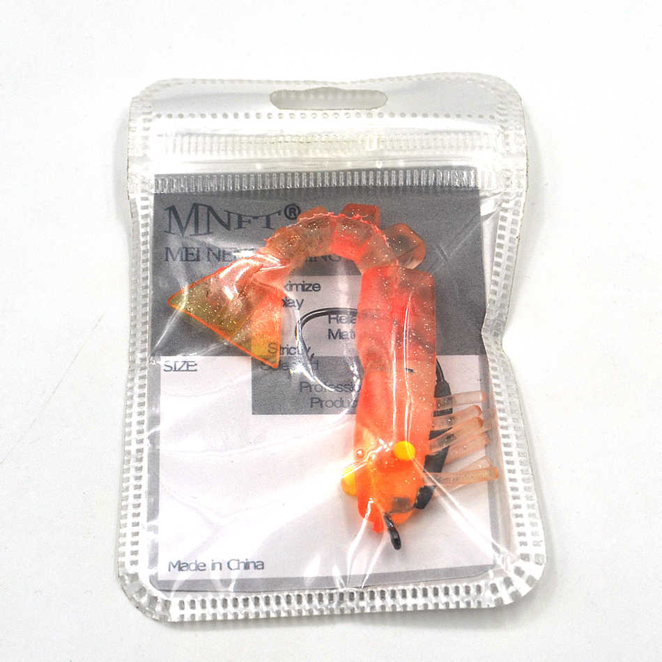 MNFT 4 ألوان الصيد السحر الاصطناعي الروبيان 9 سنتيمتر/10g لينة الكترونية الطعم المدمج في الساعد هوك الروبيان لينة إغراء