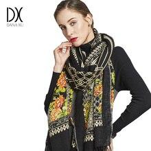 Novo Cachecol de Inverno para As Mulheres Marca de Luxo Cobertor Poncho de Lã do Envoltório Do Lenço Pashmina Cashmere Lenço Das Mulheres Bandana Muçulmano Xale Hijab