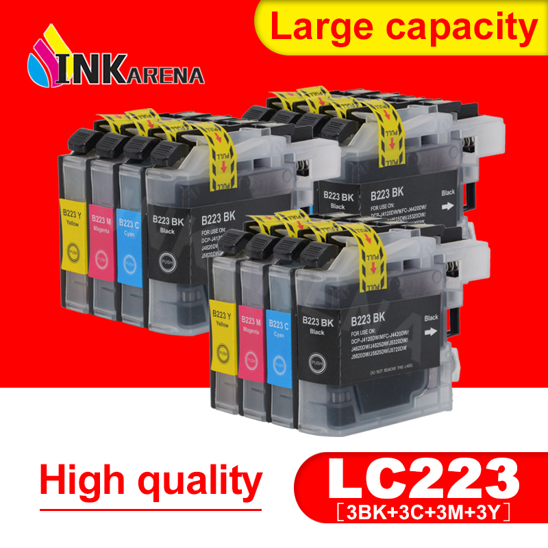 LC223 чернильный картридж LC 223 LC223XL картриджи для Brother DCP-J562DW DCP-J4120DW MFC-J480DW MFC-J680DW MFC-J880DW MFC-J4620DW