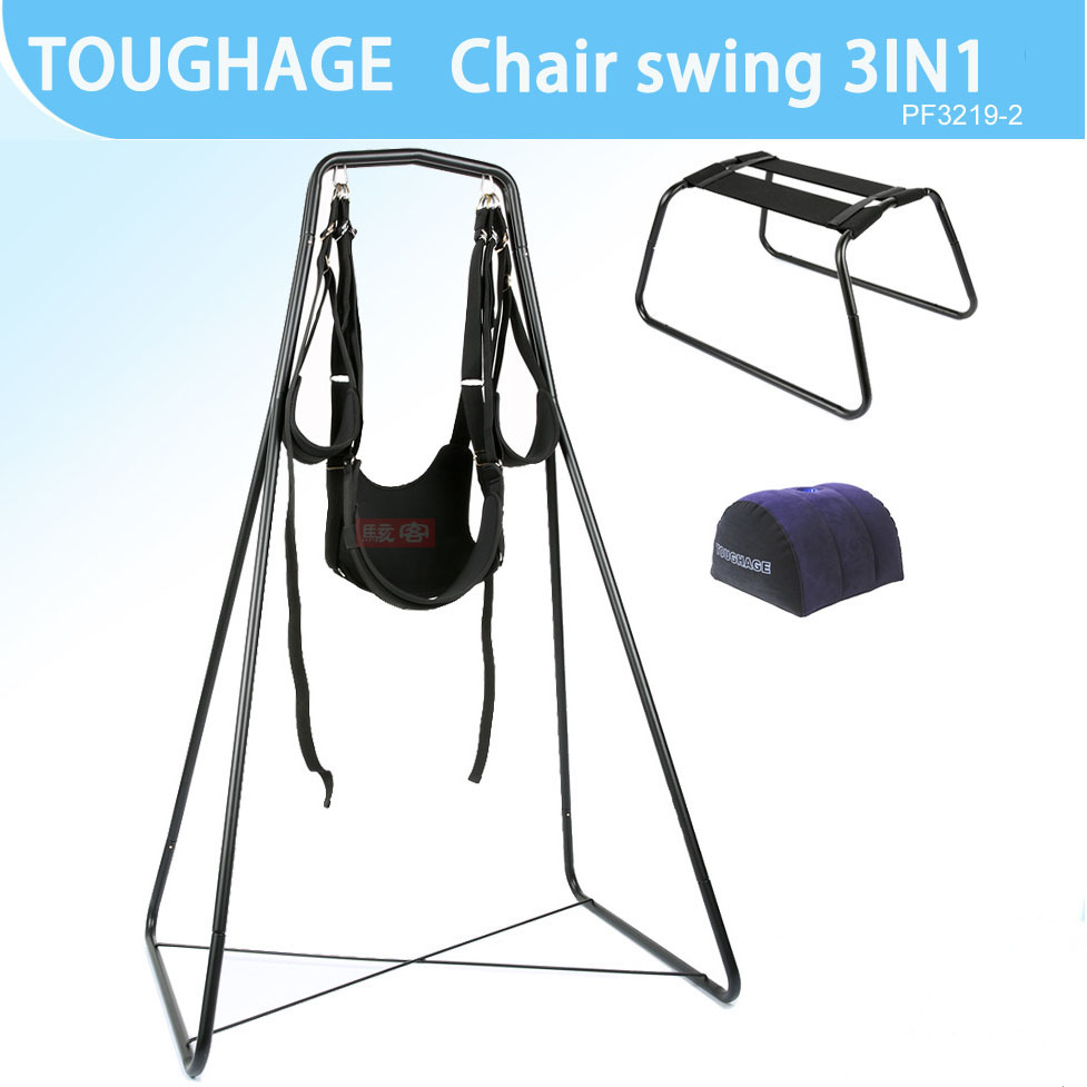 Jouets pour adultes meubles de sexe 3IN1 balançoires de dureté sexe chaise oreiller Wedge coussin luxe amour Position Bondage meubles Kit