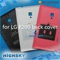 10 unids/lote envío gratis piezas de repuesto 100% original battary vivienda puerta contraportada para el LG Optimus Vu 2 F200 con hierro NFC