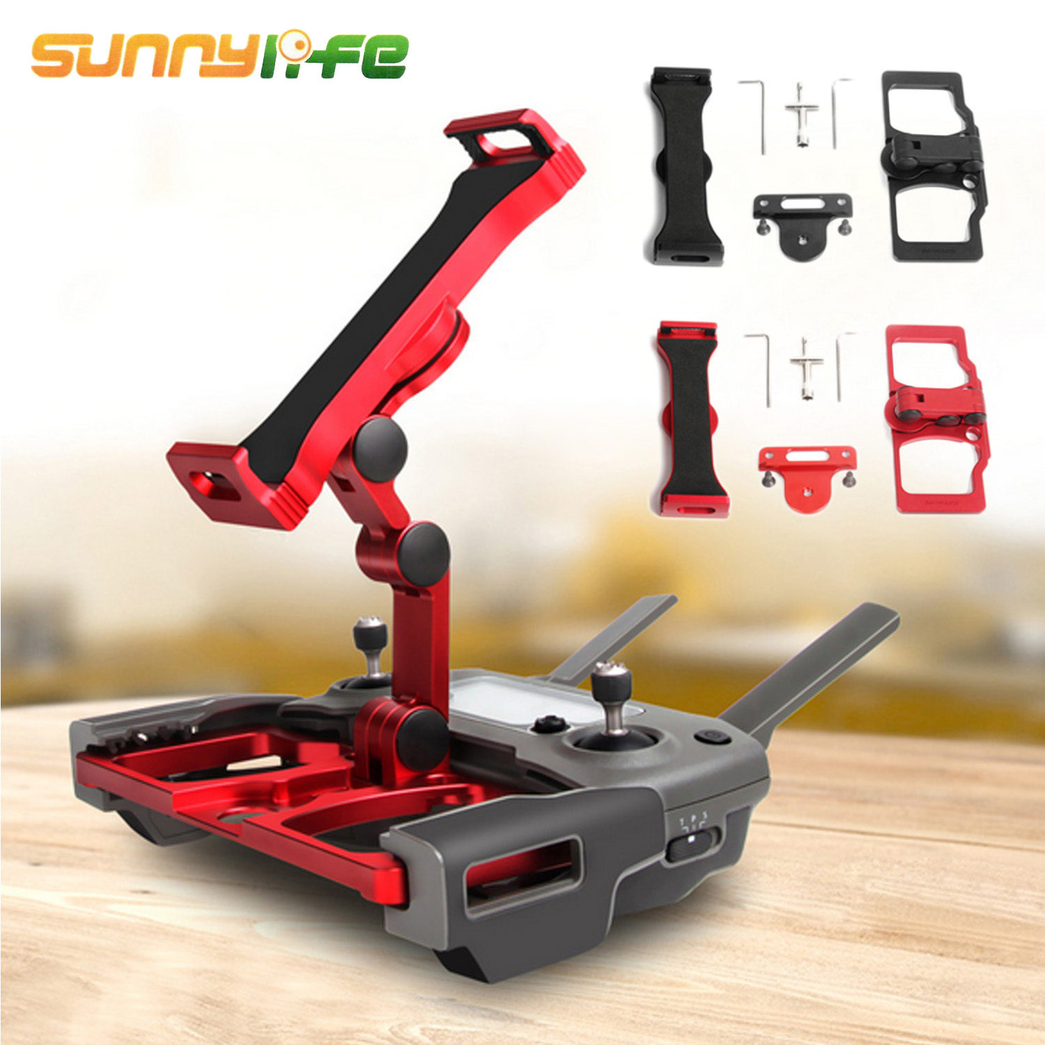 SUNNYLIFE Foldable Metal Remote Control Phone Tablet Stand Bracket for DJI Mavic 2 Pro AIR Spark