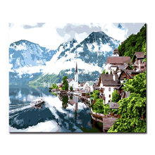 Diy Digital Oil Painting Fashion Framework Modern By Numbers Mountain Landscape Wall Art Popular Picture For Home Decoration