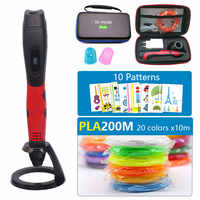 sell well 3D pen with PLA filament kids diy drawing pen,5V 2A usb adapter,oled display creative education,Can use power bank