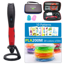 sell well 3D pen with PLA filament kids diy drawing pen 5V 2A usb adapter oled