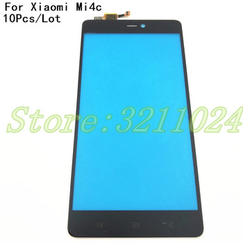 10Pcs/Lot 100% Tested 5.0 inches Mobile Phone Front Touch Screen Digitizer Panel Glass For Xiaomi Mi4C Mi 4C M4C Mi4i 4i Sensor