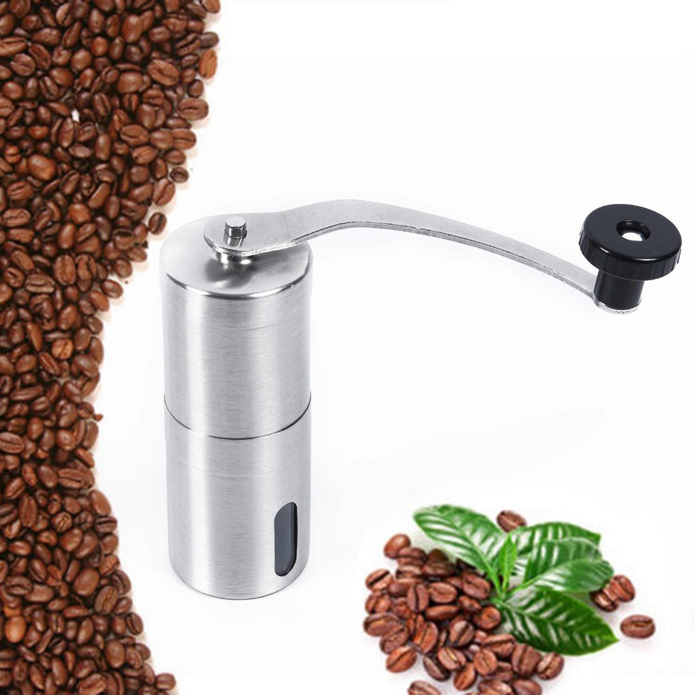 Столовая барная ручная маленькая кофейная техника, серебряная шлифовальная машина, кухня 304, нержавеющая сталь, керамика, заусенцы, акрил