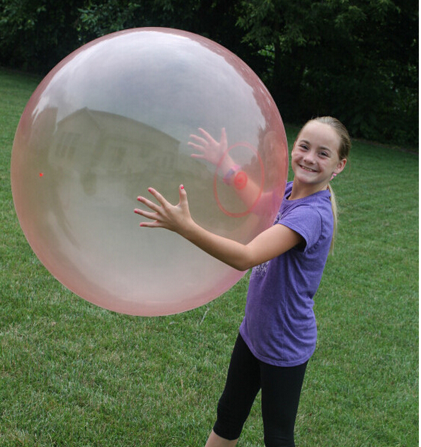 blue and red color Big Bubble ball (without charge pump No Color box) Big balloon children toy wubble bubble ball