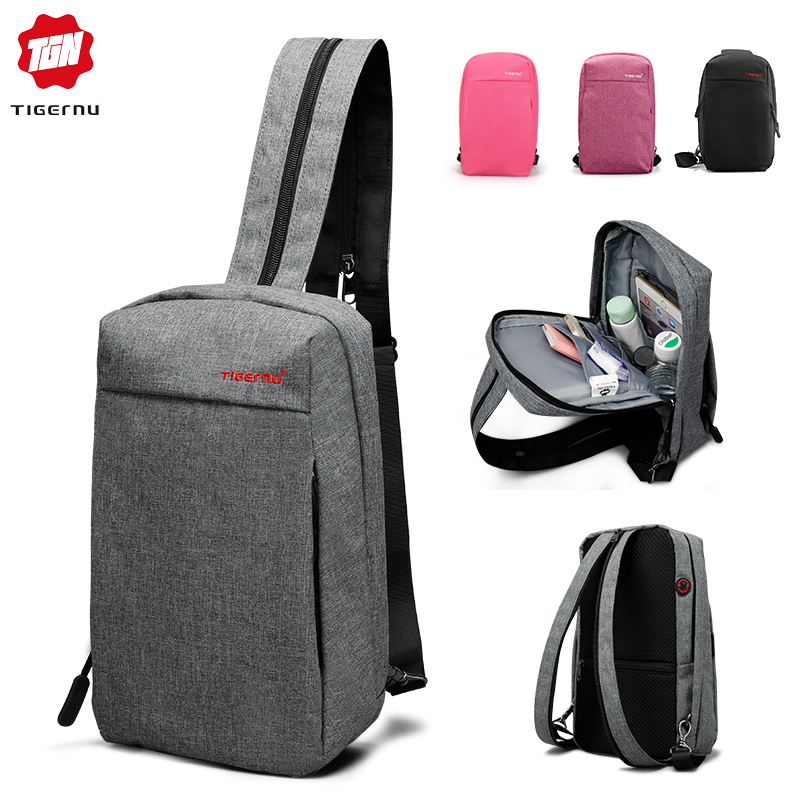Tigernu Multifunction Chest Pack Men Fashion Shoulder Crossbody Bag Male Water Resistant Chest Bags Women Travel