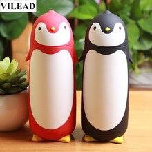 VILEAD Cute Penguin Термос Из Нержавеющей Стали Термосы Мультфильм Теплоизоляция Бутылки Воды Сладкий Подарок для Детей