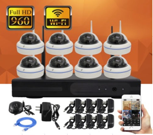 8CH HD Wireless camera NVR Kit P2P 960P Indoor Outdoor IR Night Vision Security 1.3MP IP Camera WIFI CCTV System